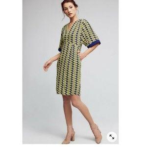 Anthropologie Maeve Geometric Kimono Dress